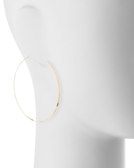 Flat Magic Hoops, Yellow Gold