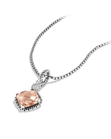 Cushion on Point Pendant with Morganite