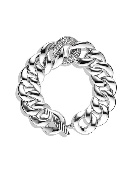 Curb Link Bracelet with Diamonds