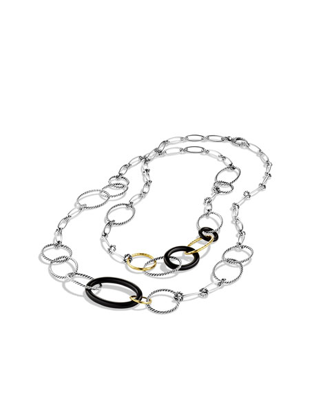 Mobile Chain Necklace, Black Onyx, 42""