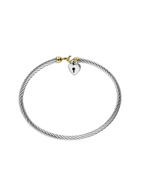 Cable Collectibles Heart Lock Bracelet with Gold