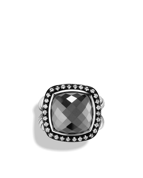 Albion Ring with Hematine and Diamonds