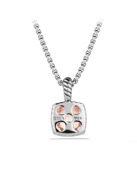 Petite Albion Pendant with Morganite on Chain