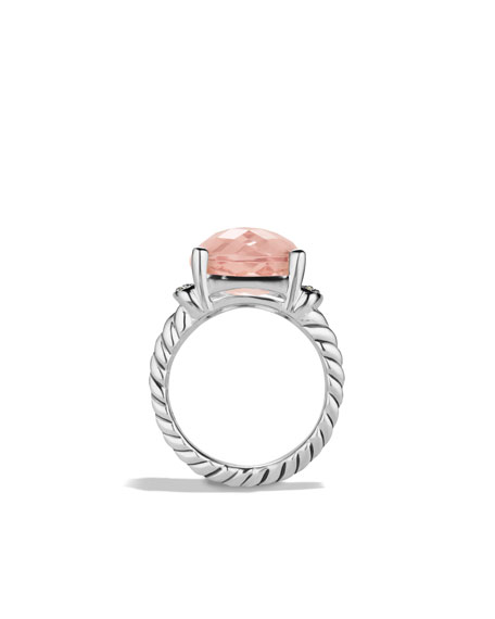 Wheaton Ring with Morganite and Diamonds