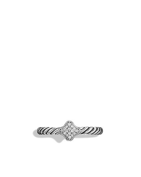 Quatrefoil Ring with Diamonds