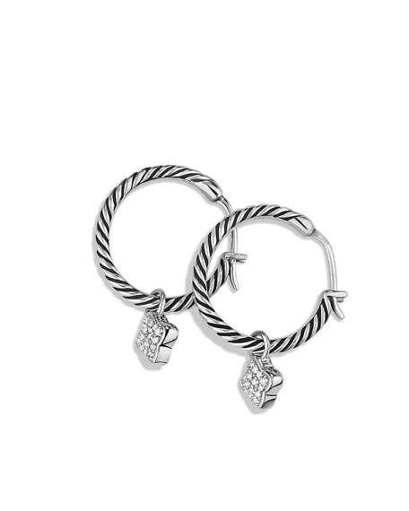 Quatrefoil Hoop Earrings with Diamonds
