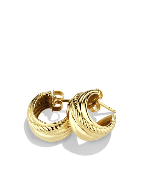 Crossover Earrings in Gold