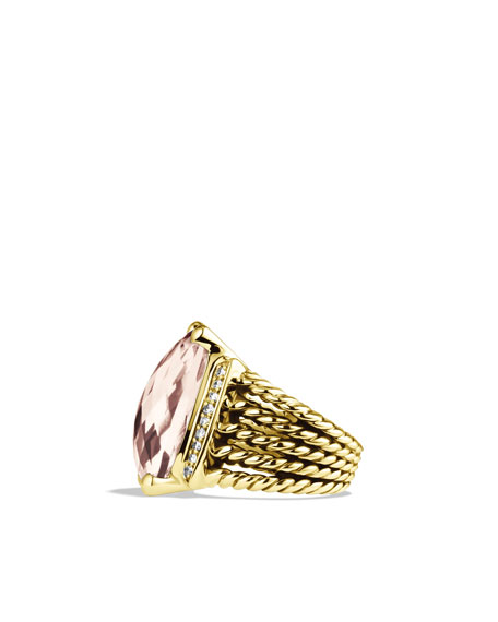 Wheaton Ring with Morganite and Diamonds in Gold