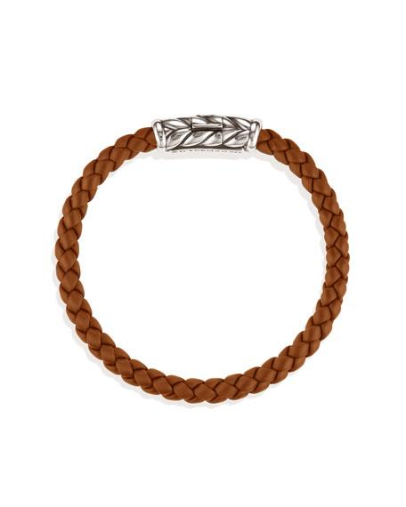 Weave Bracelet, Camel Rubber, 5.5mm