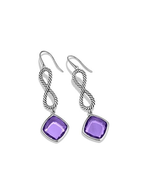 Confetti Figure-Eight Drop Earrings with Amethyst