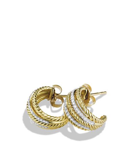 Lantana Earrings with Diamonds in Gold