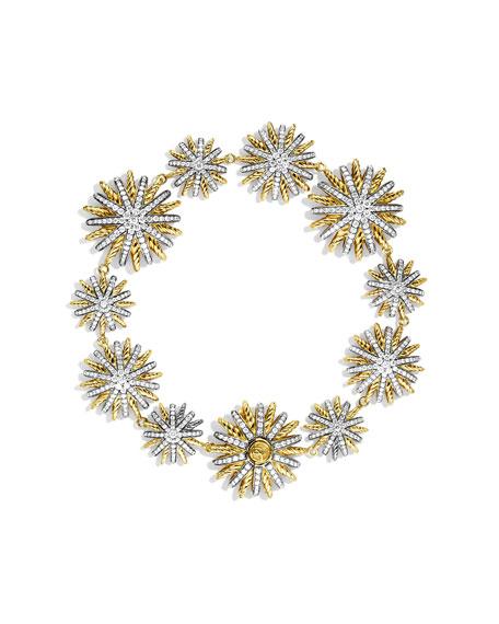 Starburst Bracelet with Diamonds in Gold