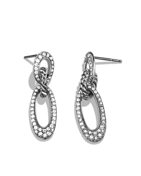 Cable Classics Drop Earrings with Diamonds