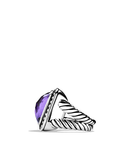 Albion Ring with Amethyst and Diamonds