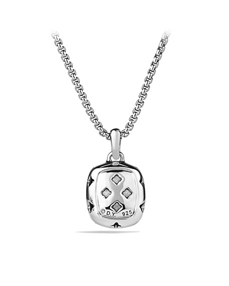 Noblesse Pendant with Hematine and Diamonds on Chain
