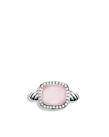 Noblesse Ring with Rose Quartz and Diamonds