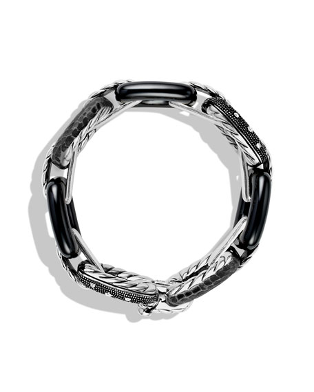 Midnight Mélange Cushion Link Bracelet with Diamonds