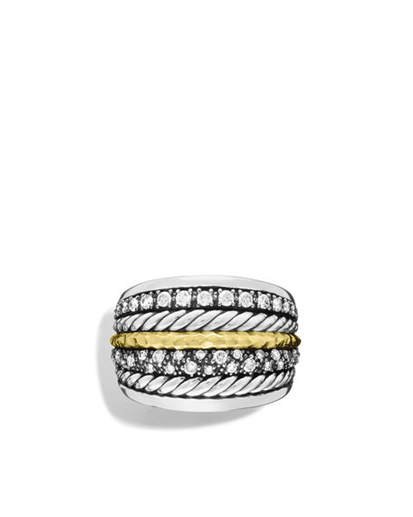 Midnight Mélange Ring with Diamonds