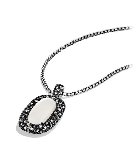 Midnight Mélange Pendant with Moon Quartz and Diamonds