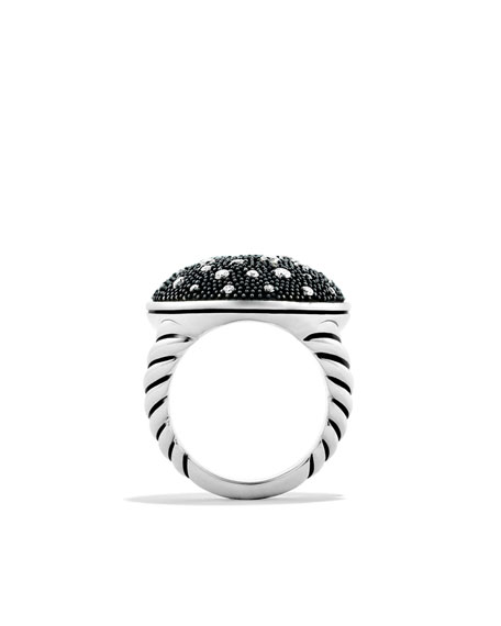 Midnight Mélange Oval Ring with Diamonds