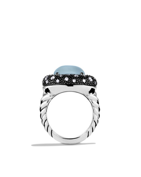Midnight Mélange Ring with Moon Quartz