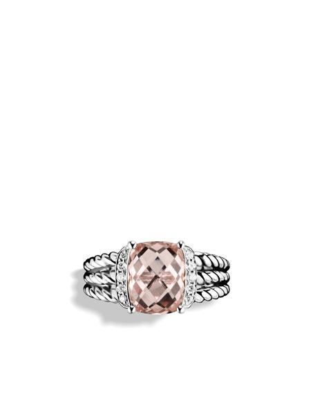 Petite Wheaton Ring with Morganite and Diamonds