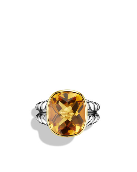 Noblesse Ring with Citrine and Gold