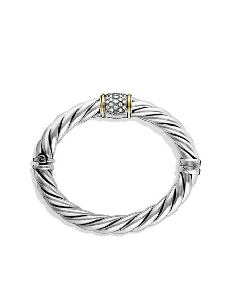 David Yurman Metro Bracelet With Diamonds And Gold