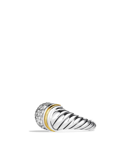 Metro Ring with Diamonds and Gold