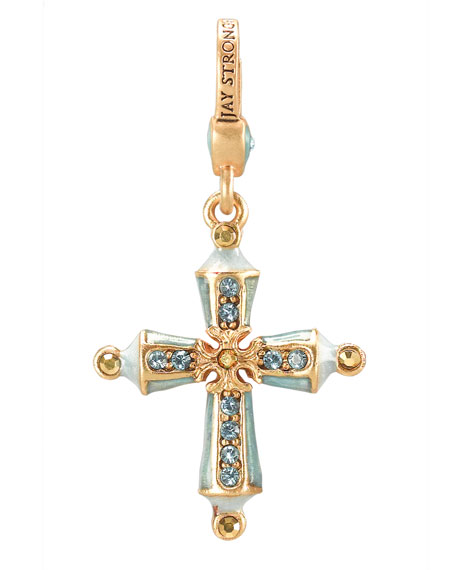 Birthstone Cross Charm