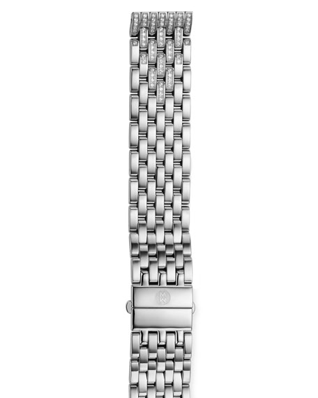 18mm Deco Diamond Taper 7-Link Bracelet Strap, Steel