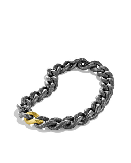 Black & Gold Curb Link Necklace