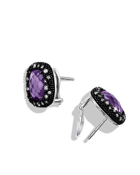 Midnight Mélange Earrings with Amethyst and Diamonds