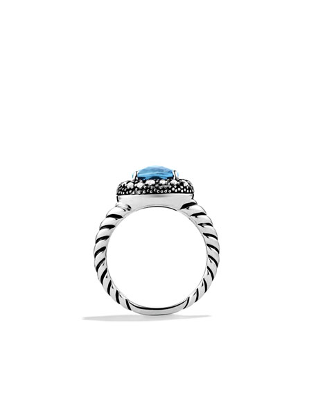 Midnight Mèlange Ring with London Blue Topaz and Diamonds