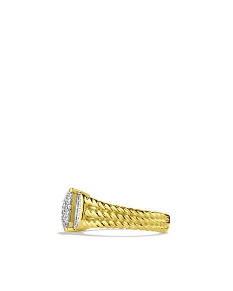 Petite Wheaton Ring with Diamonds in Gold