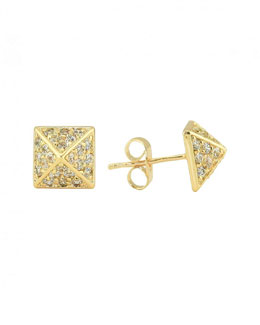 Lisa Freede Crystal Pyramid Earrings (Stylist Pick!)