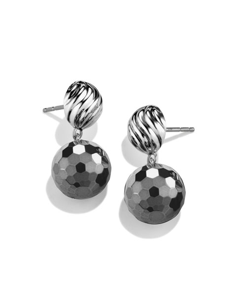 DY Elements Drop Earrings with Hematine