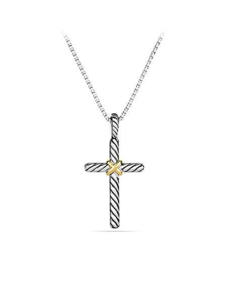 Cable Collectibles X Cross with Diamonds in Gold on Chain