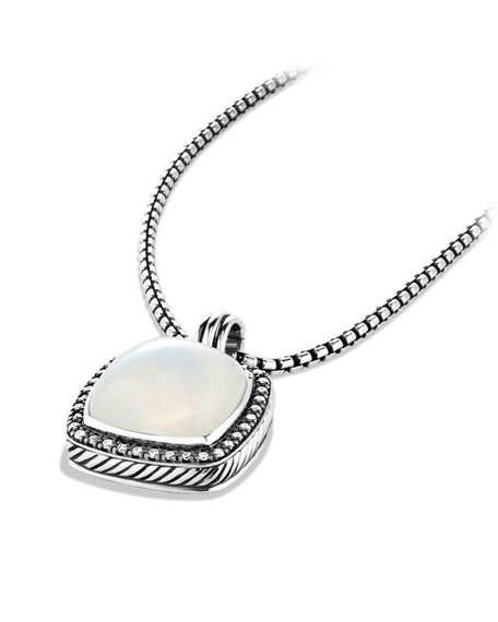 Albion Pendant with Moon Quartz and Diamonds