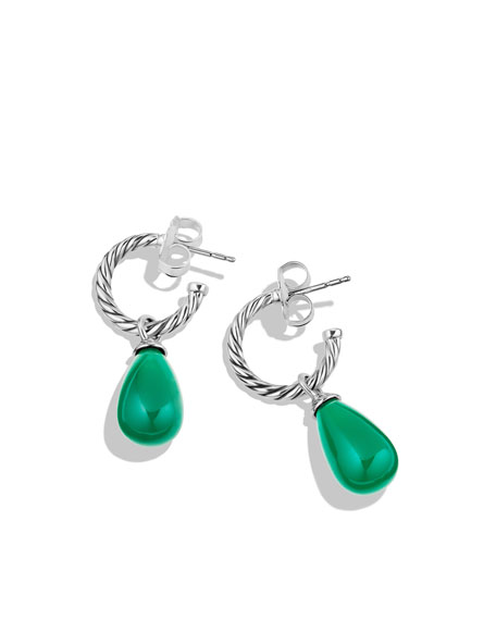 Color Classics Bead Drop Earrings with Green Onyx