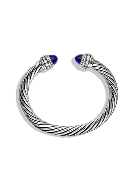 Cable Classics Bracelet with Lapis Lazuli and Diamonds