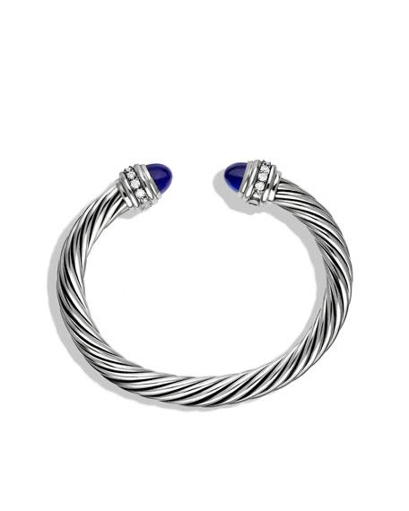 Cable Classics Bracelet with Lapis Lazuli and Diamonds