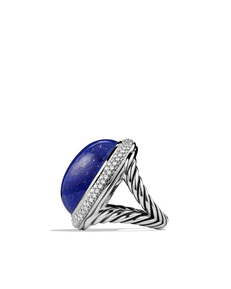 DY Signature Oval Ring with Lapis Lazuli and Diamonds