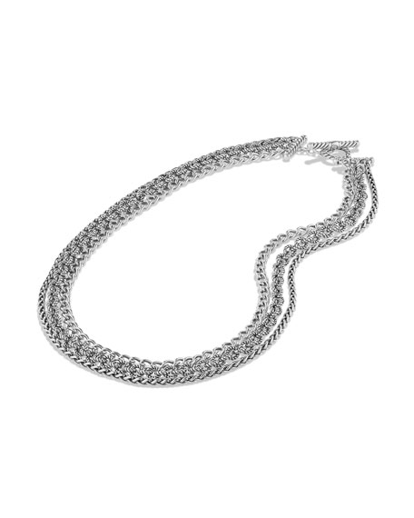Three-Row Chain Necklace