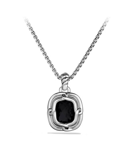 Labyrinth Medium Pendant with Black Onyx and Diamonds
