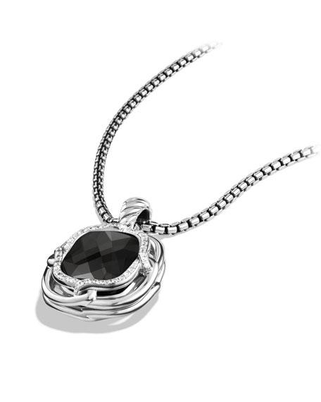 Labyrinth Medium Pendant with Black Onyx and Diamonds