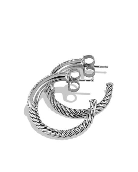 Labyrinth Hoop Earrings with Diamonds
