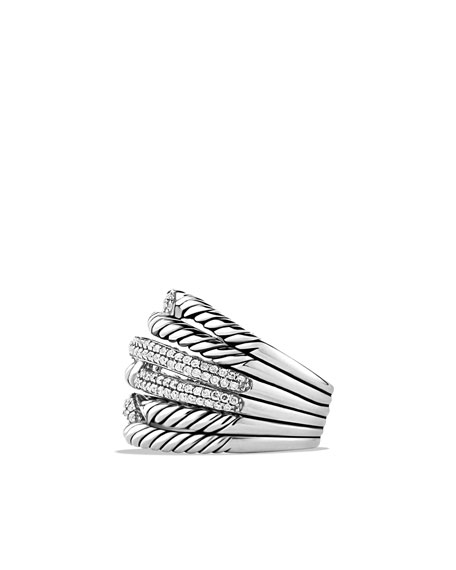Labyrinth Triple-Loop Ring with Diamonds