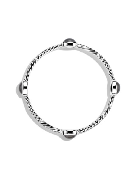 Color Classics Four-Station Bangle with Gray Moonstone