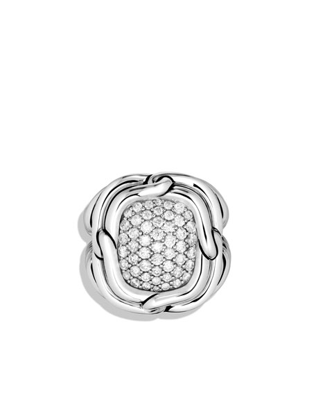Labyrinth Large Ring with Diamonds